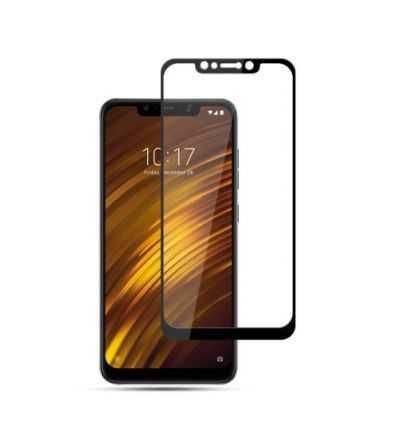 Xiaomi Pocophone F1 - Protection d'écran Verre Trempé Full Size - Noir