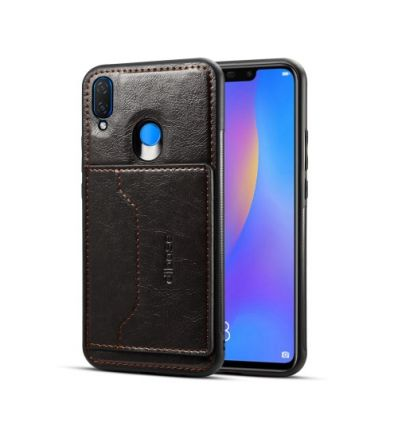 Huawei P Smart Plus - Coque porte carte en simili cuir