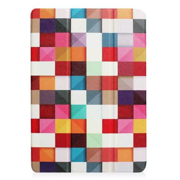 Housse iPad 9.7 2017 / 2018 Smart Cover - Carreaux Colorés