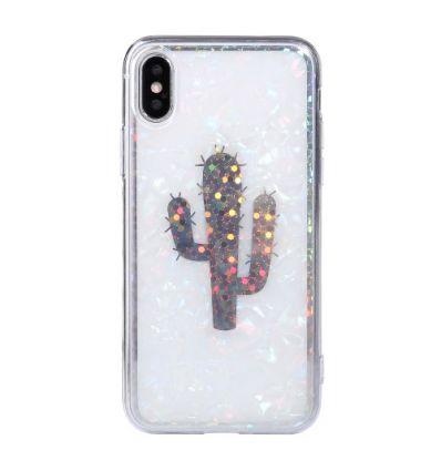 Coque étincelante iPhone XS / X Cactus
