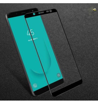 Protection d'écran Samsung Galaxy J6 en Verre Trempé Full Size - Noir