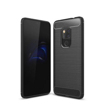 Coque Huawei Mate 20 carbone brossée