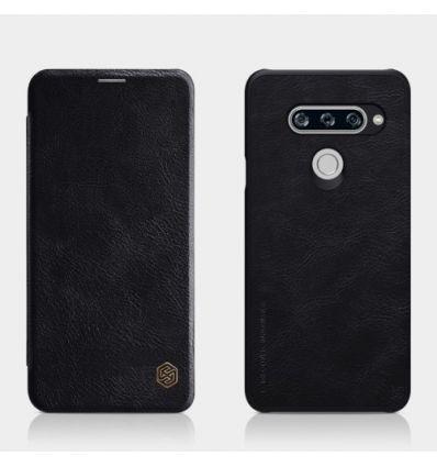 Housse LG V40 ThinQ NILLKIN Qin cuir porte carte
