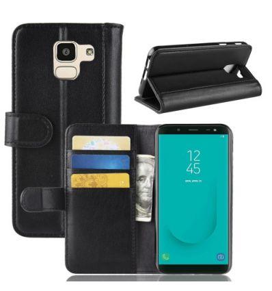 Housse Samsung Galaxy J6 Porte-Cartes en Cuir Premium