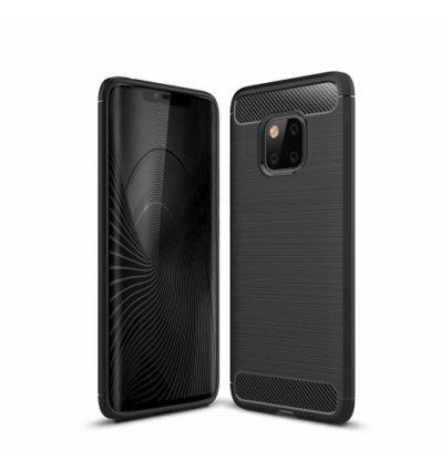 Coque Huawei Mate 20 Pro carbone brossée