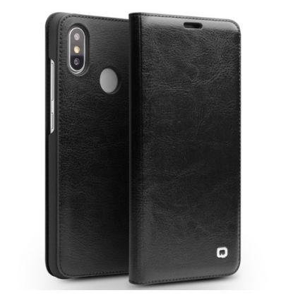 Housse Xiaomi Mi 8 QIALINO Cuir Véritable - Noir