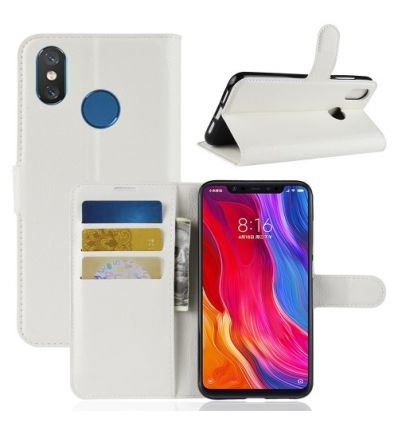 Housse Xiaomi Mi 8 Style cuir porte-cartes