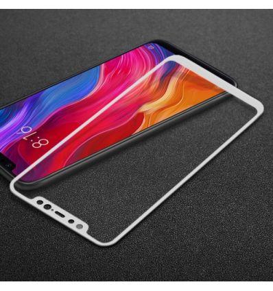 Protection d'écran Xiaomi Mi 8 en verre trempé Full Size - Blanc