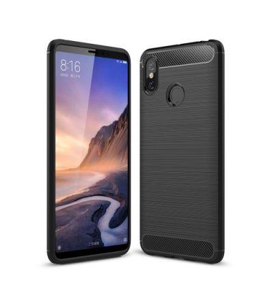 Coque Xiaomi Mi Max 3 carbone brossée