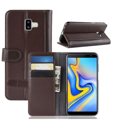 Housse Samsung Galaxy J6 Plus en cuir premium - Marron