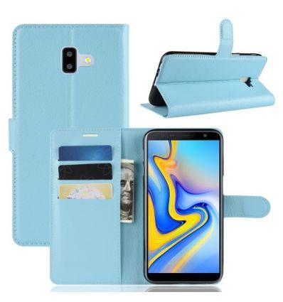 Housse Samsung Galaxy J6 Plus Style cuir porte-cartes