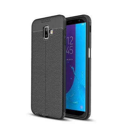 Coque Samsung Galaxy J6 Plus Style cuir texture litchi