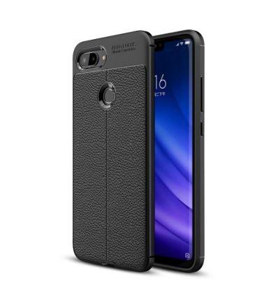 Coque Xiaomi Mi 8 Lite Style cuir texture litchi