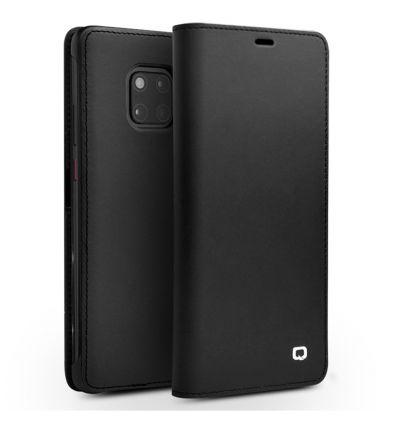 Housse Huawei Mate 20 Pro classique en cuir véritable - Noir