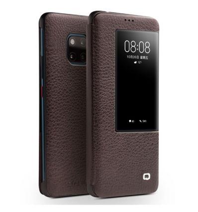 Housse Huawei Mate 20 Pro en cuir avec fenêtre - Marron