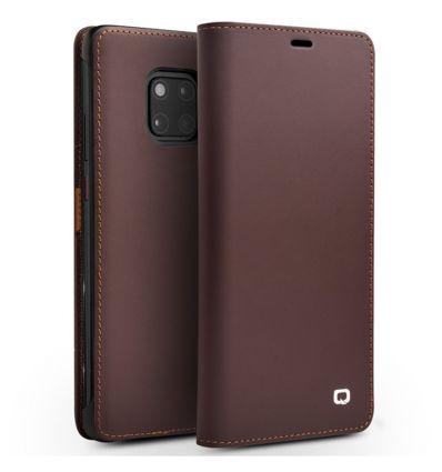 Housse Huawei Mate 20 Pro classique en cuir véritable - Marron