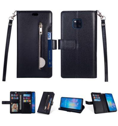 Housse portefeuille Huawei Mate 20 Pro en cuir