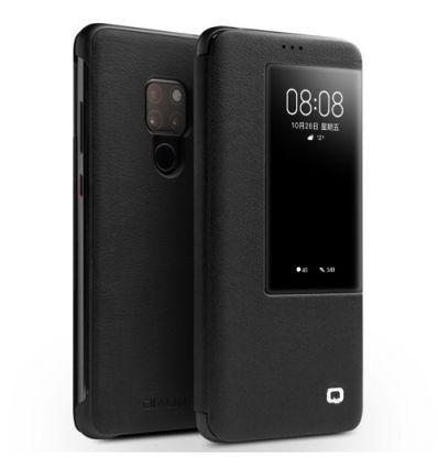 Housse Huawei Mate 20 en cuir avec fenêtre - Noir