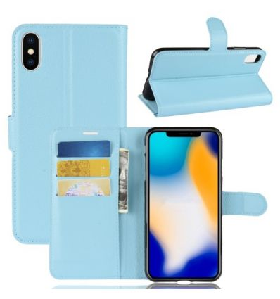 Housse iPhone XS Max Style cuir porte-cartes
