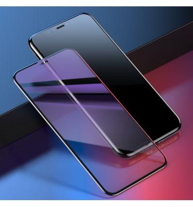 Protection d'écran en verre trempé anti-lumière bleue pour iPhone XS Max