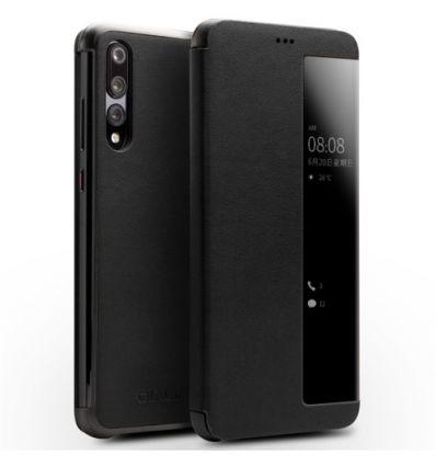 Housse Huawei P20 Pro en cuir avec fenêtre - Noir