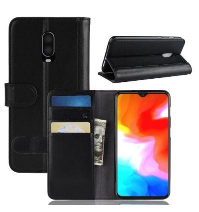 Housse OnePlus 6T cuir premium - Noir
