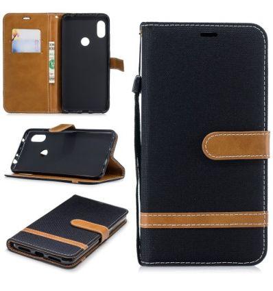 Housse Xiaomi Redmi Note 6 Pro revêtement tissu porte-cartes