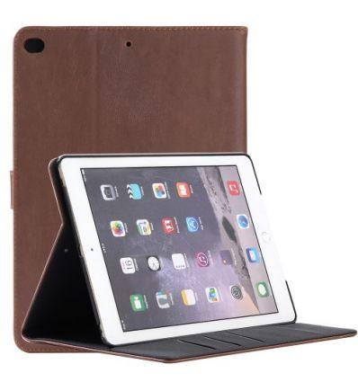 Housse iPad 9.7 2018 / 2017 simili cuir rétro