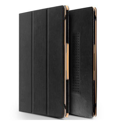 Étui MacBook 12 pouces en cuir véritable - Noir