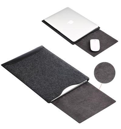 Housse MacBook Pro / Air 13 pouces feutrine et simili cuir
