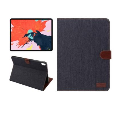 Housse iPad Pro 12.9 2018 Oxford effet tissu - Bleu marine