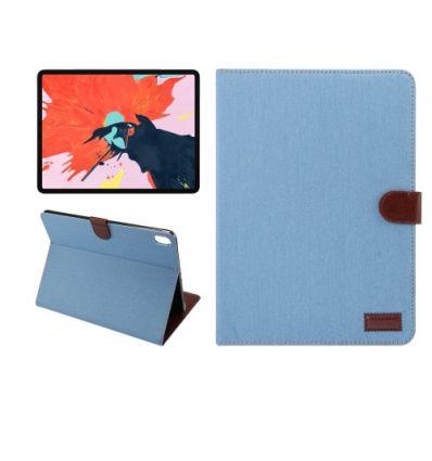 Housse iPad Pro 12.9 2018 Oxford effet tissu - Bleu clair