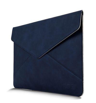 Housse en cuir style enveloppe MacBook Air / Pro 13 pouces - Bleu