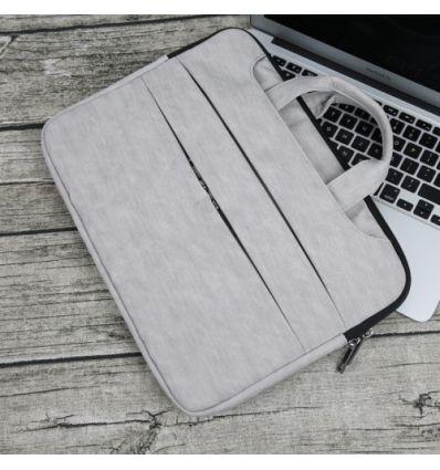 Sacoche MacBook Pro 15 pouces effet écorce - Gris