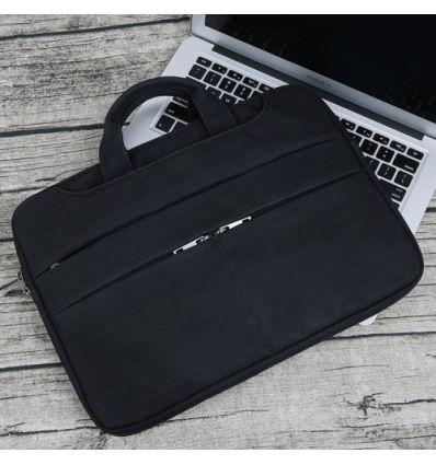 Sacoche MacBook Pro 15 pouces effet écorce - Noir