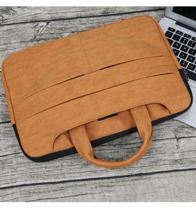 Sacoche MacBook Pro 15 pouces effet écorce - Marron