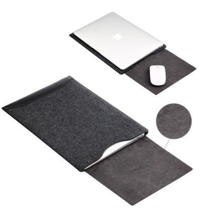 Housse MacBook 12 pouces feutrine et simili cuir
