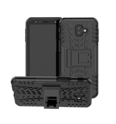 Coque Samsung Galaxy J6 Plus antidérapante avec support intégré