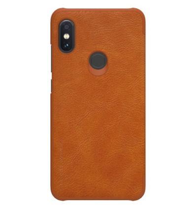 Housse Xiaomi Redmi Note 6 Pro NILLKIN Qin - Havane