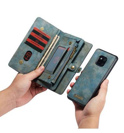 Coque et housse portefeuille 2-en-1 pour Huawei Mate 20 Pro - Bleu