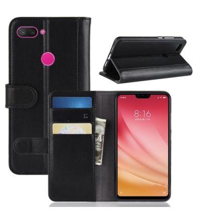 Housse Xiaomi Mi 8 Lite cuir premium - Noir