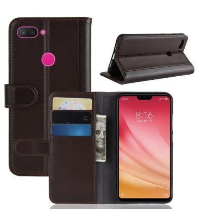 Housse Xiaomi Mi 8 Lite cuir premium - Marron