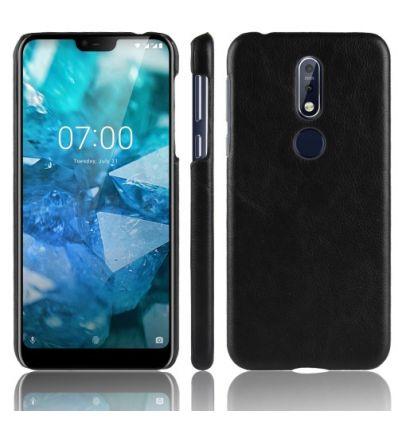 Coque Nokia 7.1 Effet Cuir