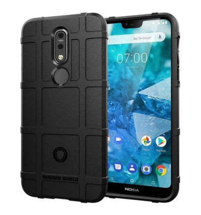 Coque Nokia 7.1 protectrice square grid