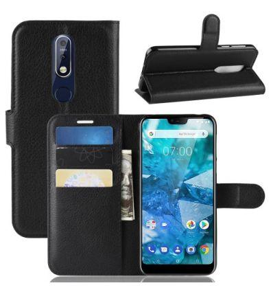 Housse Nokia 7.1 Style cuir porte-cartes