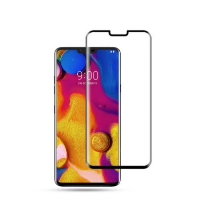 Protection d'écran LG V40 ThinQ en verre trempé Full Size - Noir