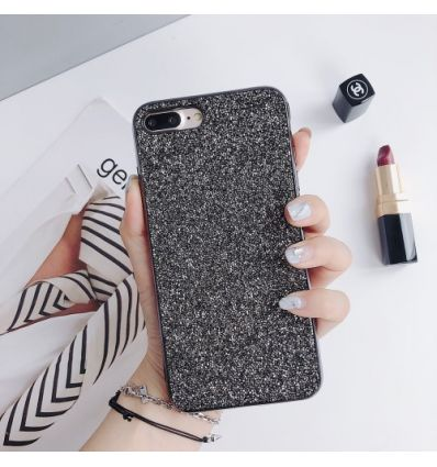 iPhone 8 Plus / 7 Plus  - Coque strass glamour - Noir