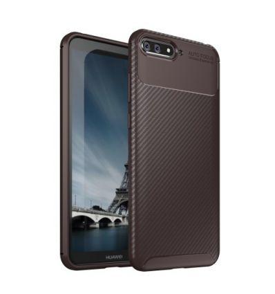 Coque Huawei Y6 2018 Karbon - Marron