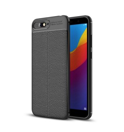 Huawei Y6 2018 - Coque style cuir texture litchi