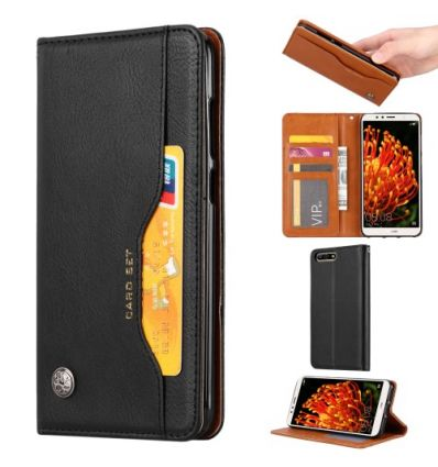Huawei Y6 2018 - Housse porte cartes cuir stand case